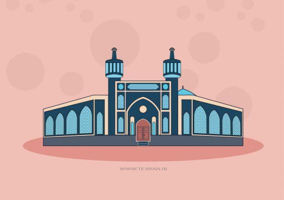 وکتور مسجد عالی قاپو اردبیل