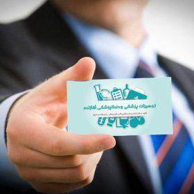 موکاپ کارت ویزیت در دست