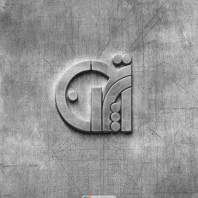 موکاپ لوگوی دیواری