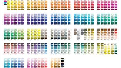 کد رنگهای cmyk