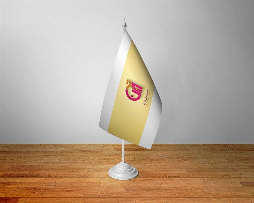 دانلود موکاپ پرچم رومیزی