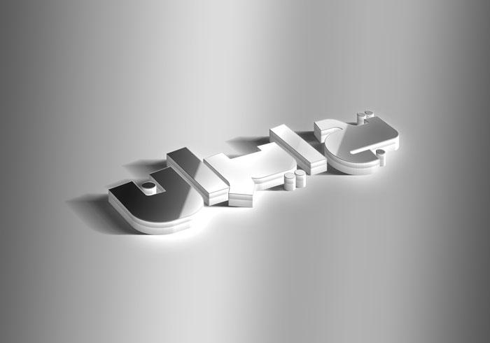دانلود موکاپ سه بعدی متن