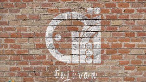 موکاپ اسپری روی دیوار – موکاپ لوگو