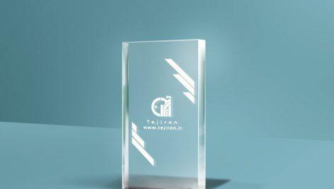 موکاپ لوگو روی شیشه – موکاپ شیشه ای