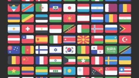 فایل لایه باز پرچم کشورها ی جهان