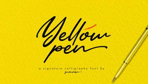 دانلود فونت Yellow Pen