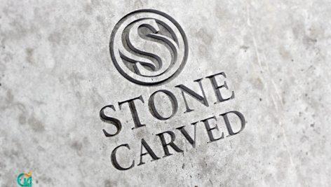 دانلود موکاپ لوگو روی سنگ