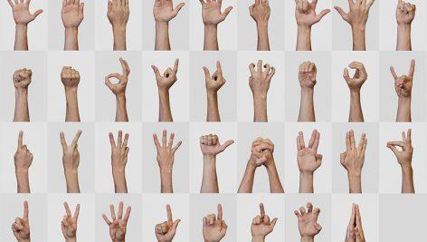 تصاویر حالتهای مختلف دست