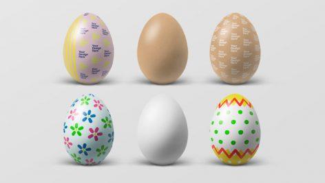 موکاپ تخم مرغ تزئینی