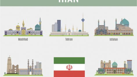 وکتور شهرهای ایران