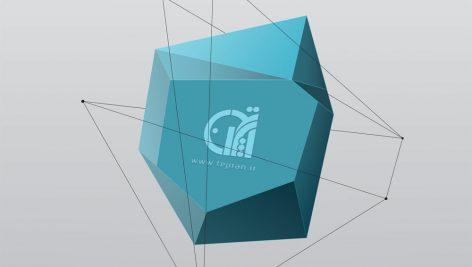 موکاپ لوگو روی حجم سه بعدی (رایگان)