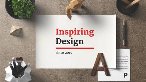 موکاپ طراحی روی میز