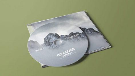 موکاپ کاور سی دی بصورت لایه باز (رایگان)