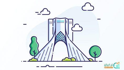 طرح لایه باز برج آزادی