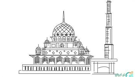 وکتور مسجد صورتی